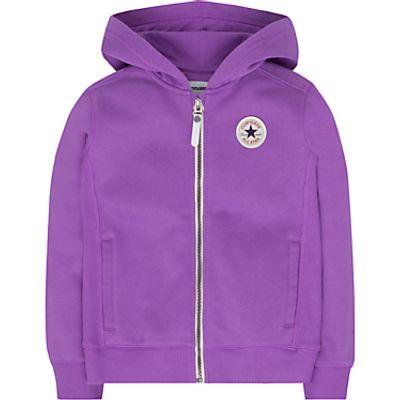 Converse Girls' Zip Through Hoodie, Violet