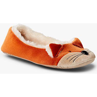 John Lewis Fox Ballet Slippers, Multi