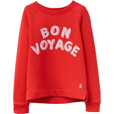 Little Joule Girls' Bon Voyage Sweatshirt, Red