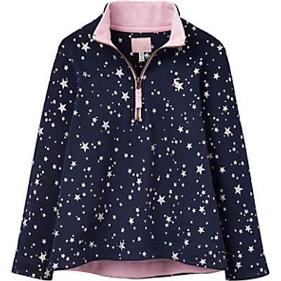 Little Joule Girls' Star Print Sweatshirt, Navy