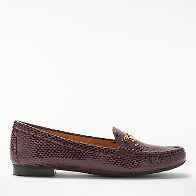 John Lewis G Austin Block Heeled Loafers, Amarone