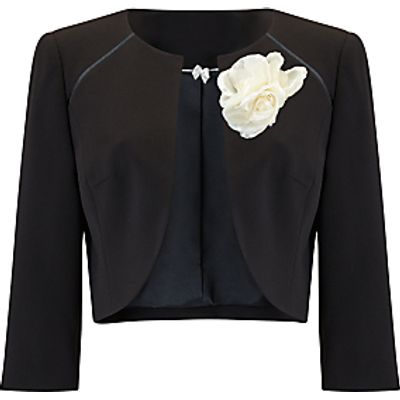 Jacques Vert Raglan Detail Bolero and Corsage, Black
