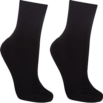 John Lewis Organic Cotton Roll Top Socks, Pack of 2