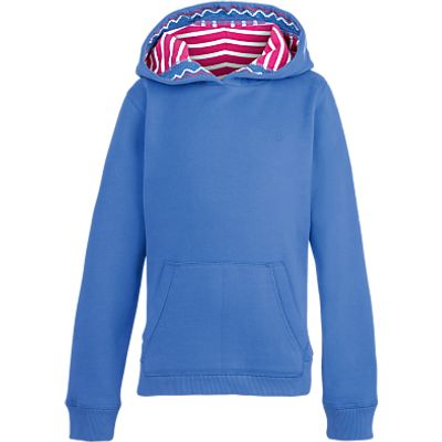 Fat Face Girls' Popover Hoodie, Sky Blue
