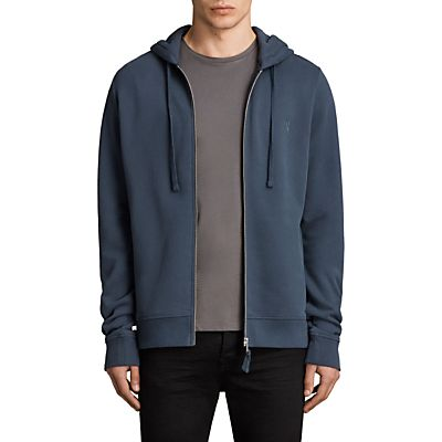 AllSaints Raven Hoodie, Washed Navy