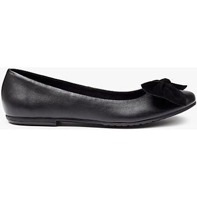 John Lewis Harlow Bow Detail Ballet Shoes, Black