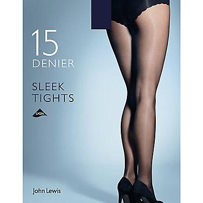 John Lewis 15 Denier Sleek Tights, Pack of 1