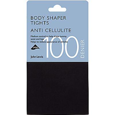 John Lewis 100 Denier Anti-Cellulite Bodyshaper Opaque Tights, Black