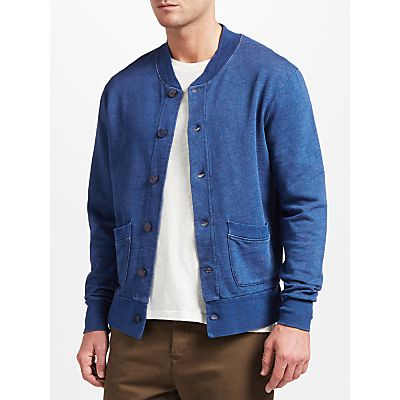 JOHN LEWIS & Co. Cotton Sweat Jacket, Indigo