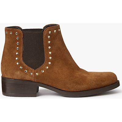 John Lewis Persia Stud Chelsea Boots, Tan