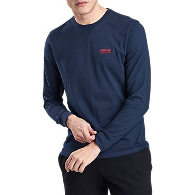 Barbour International Long Sleeve Logo T-Shirt, Navy