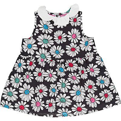 887344121055 | Margherita Kids Girls  Printed Daisy Collar Dress  Cream Store