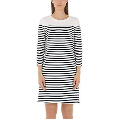 4056255567146 | Marc Cain Stripe Jersey Dress  Navy White