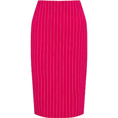 4056255557925 | Marc Cain Pin Stripe Stretch Pencil Skirt  Pink