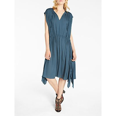 AND/OR Thea Tie Dress, Teal