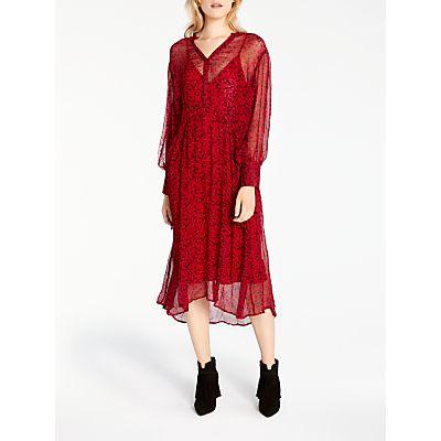 AND/OR Megan Dandelion Print Dress, Red