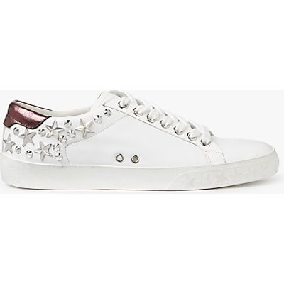 Ash Dazed Stud Lace Up Trainers, White