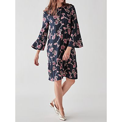 Y.A.S Coller Printed Dress, Night Sky