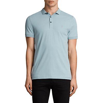 AllSaints Slim Fit Alter Polo Shirt, Nordic Blue