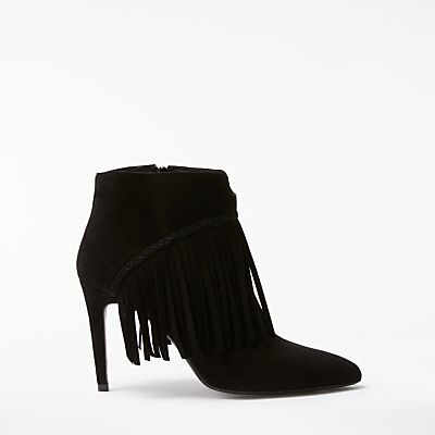AND/OR Orieta Fringe Stiletto Heeled Ankle Boots