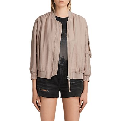 AllSaints Angie Light Bomber, Dusty Pink