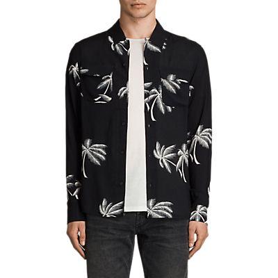 AllSaints Offshore Long Sleeve Shirt, Black