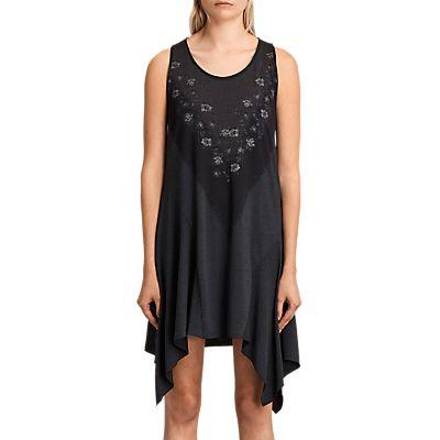 AllSaints Tany Loire Dress, Dark Night Blue