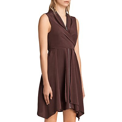 AllSaints Jayda Dress, Red Brown