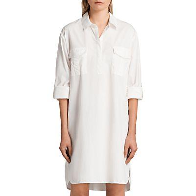 AllSaints Lamont Shirt Dress, White