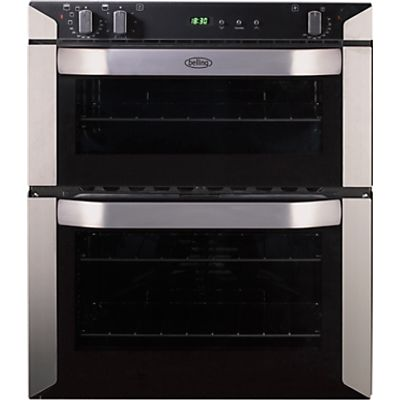 5034648495879: Belling BI70FP Double Built Under Electric Oven  Stainless Steel