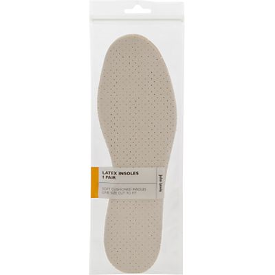 John Lewis Kids Cushioned Latex Insoles  1 Pair  Neutral
