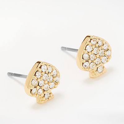 kate spade new york Crystal Stud Earrings, Gold