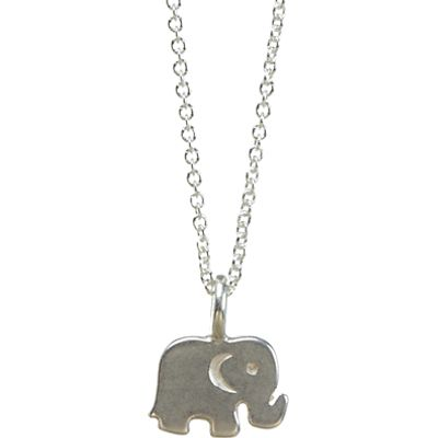 Dogeared Sterling Silver Good Luck Elephant Reminder Necklace, Silver