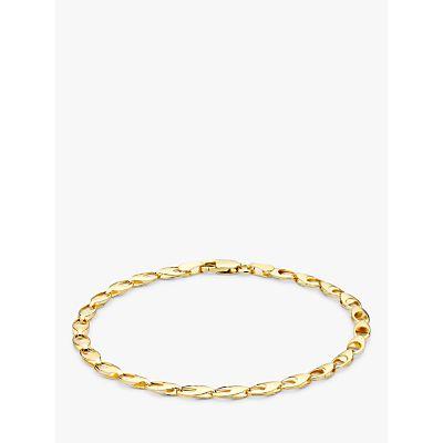 IBB 9ct Gold Oval Link Bracelet, Gold