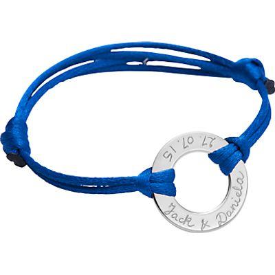 Merci Maman Personalised Sterling Silver Eternity Bracelet