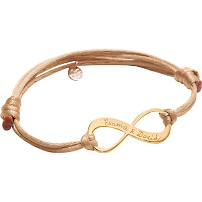 Merci Maman Personalised 18ct Gold Plated Infinity Bracelet