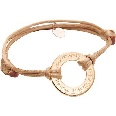 Merci Maman Personalised 18ct Gold Plated Eternity Bracelet