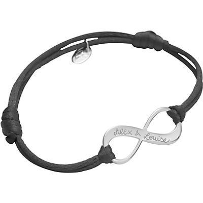 Merci Maman Personalised Sterling Silver Infinity Bracelet
