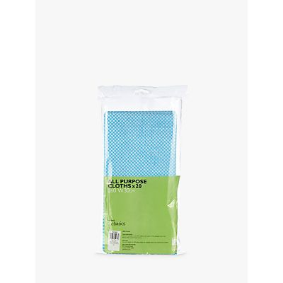 John Lewis The Basics Premium All Purpose Cleaning Cloths  Pack of 20