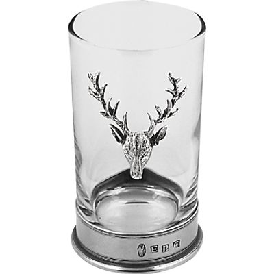 English Pewter Company Stag Highball Spirit Glass 5060400676262
