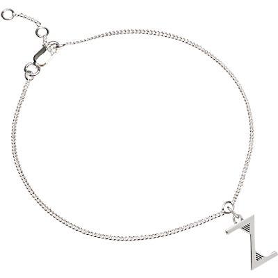 Rachel Jackson London Sterling Silver Initial Charm Bracelet
