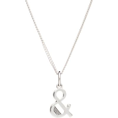 Rachel Jackson London Sterling Silver Initial Pendant Necklace