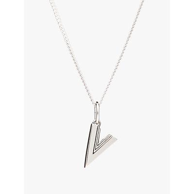 Rachel Jackson London Sterling Silver Initial Pendant Necklace