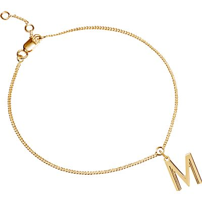 Rachel Jackson London Gold Plated Initial Charm Bracelet