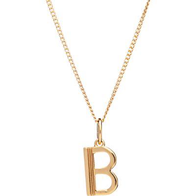 5060508131014 | Rachel Jackson London 22ct Gold Vermeil Initial Pendant Necklace Store