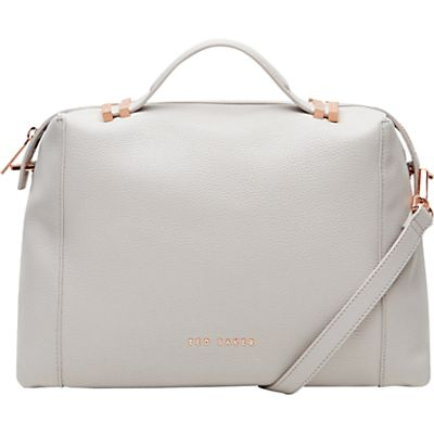 5054787013284 | Ted Baker Albee Leather Tote Bag  Light Grey Store