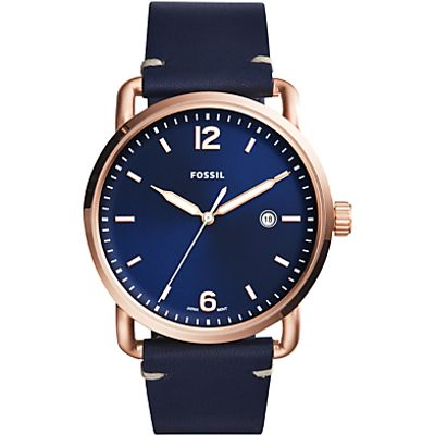 Fossil Men's Commuter Date Leather Strap Watch