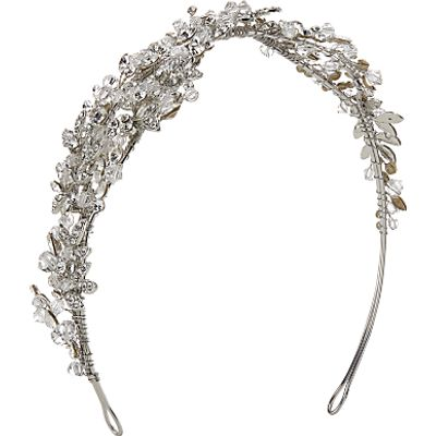 Ivory & Co. Euphoria Crystal and Cubic Zirconia Side Tiara, Silver