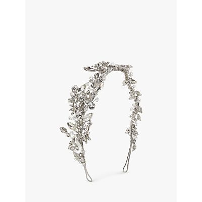 Ivory & Co. Starlit Sky Crystal and Cubic Zirconia Pave Side Headpiece, Silver