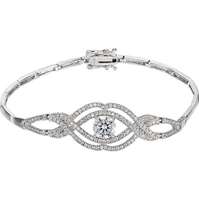 Ivory & Co. Heritage Cubic Zirconia Rose Bracelet, Silver
